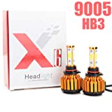 9005 HB3 LED Headlight Bulbs Conversion Kit - Bright Pure White 6000K 8000LM New Arrival 4-Side Replace Cars Trucks Headlight Lighting High Beam or Low Beam or Fog Lights (Tamaño: 9005/HB3/H10)
