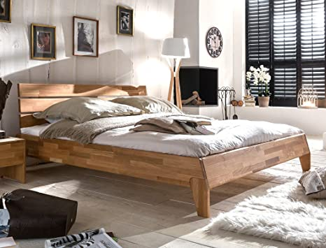 Massivholzbett Divico 180x200 Wildeiche geölt Doppelbett Ehebett Schlafzimmer Holzbett Bett