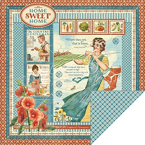 "Home Sweet Home Double-Sided Cardstock 12""X12""-Home Sweet Home"
