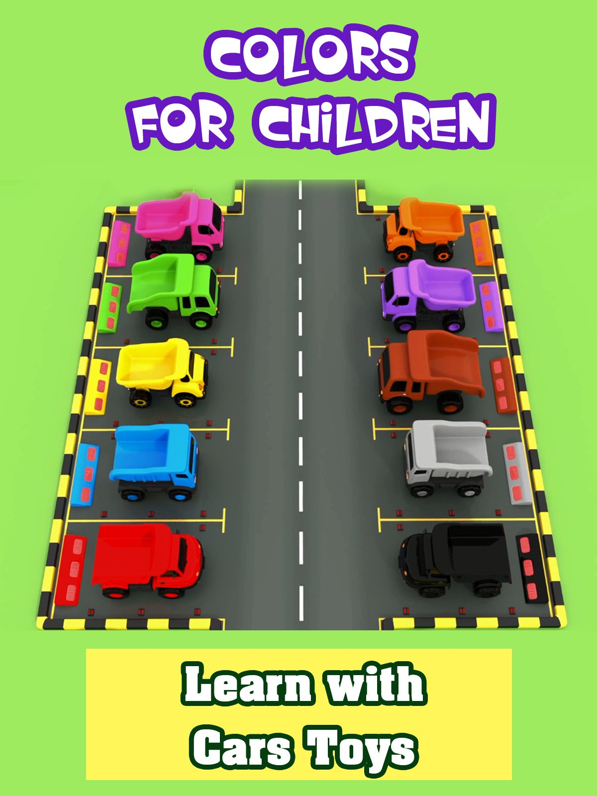 Colors for Children to Learn with Cars Toys