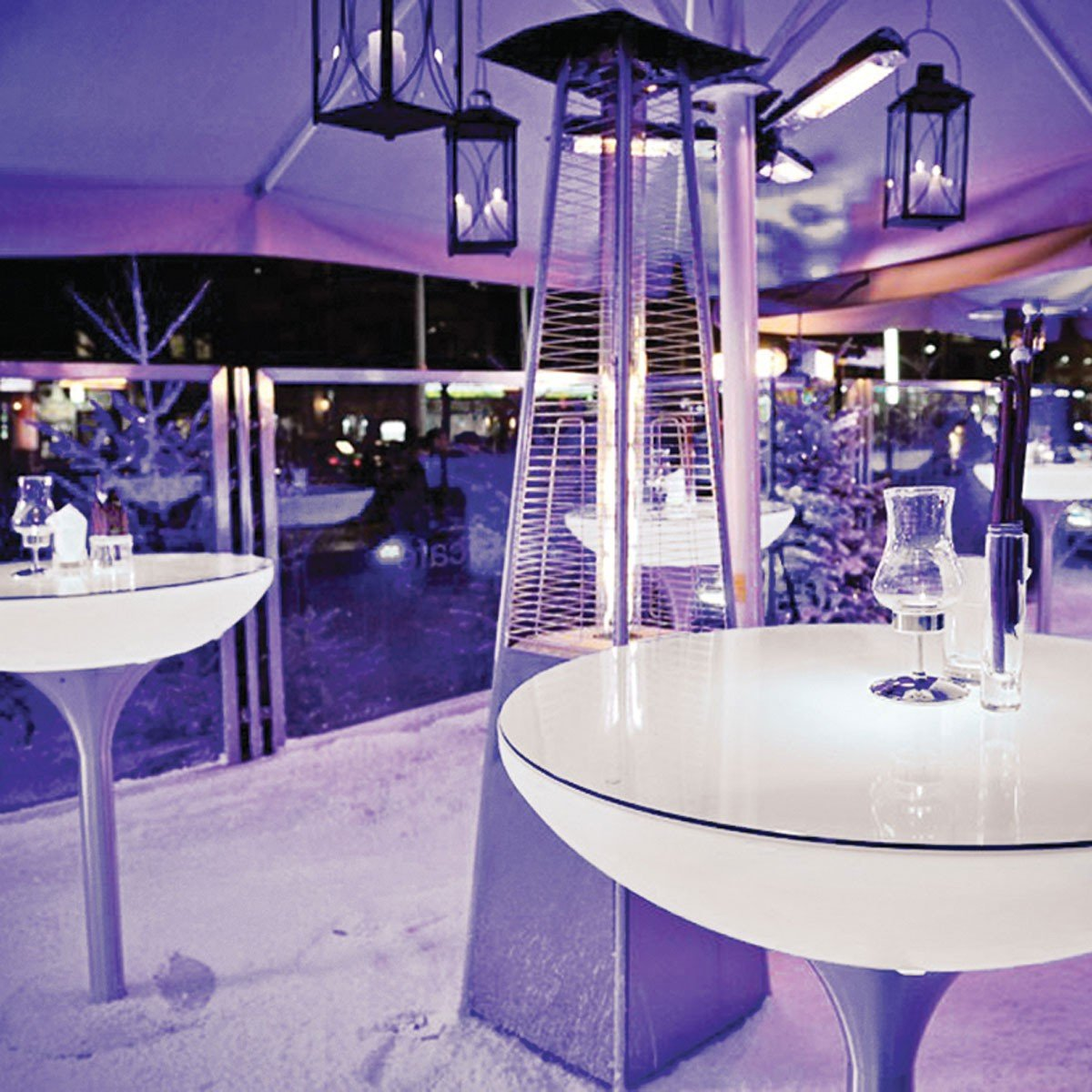Couchtisch Lounge Größe: 105 cm H x 84 cm Ø