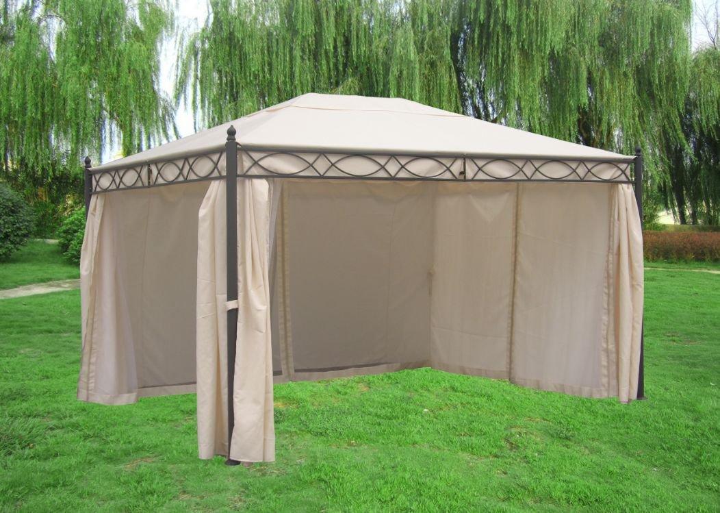 Pavillon Rivoli mit Seitenteilen 3×4 Meter, Dach und Seitenteile ecru bestellen