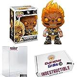 Funko Pop! Mortal Kombat Scorpion, Flaming Skull, Exclusive Vinyl Figure, Concierge Collectors Bundle
