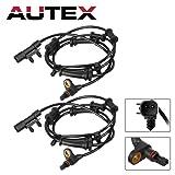 AUTEX 2PCS ABS Wheel Speed Sensor Front Left & Right ALS1918 68003281AA, 68003281AC, ALS1918 For 2007 2008 2009 2010 2011 2012 2013 2014 2015 2016 2017 Jeep Wrangler 3.6L 3.8L