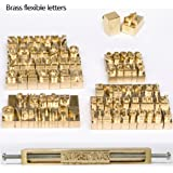 WellieSTR 1 Set Brass Letters,CNC Engraving Mold,Hot Foil Stamp,Number,Alphabet DIY Die Cut Leather Stamp Mold,Symbol Customized Font
