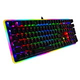 Rosewill Mechanical Gaming Keyboard, RGB LED Glow Backlit Computer Mechanical Switch Keyboard for PC, Laptop, Mac, Software Customizable - Professional Gaming Blue Mechanical Switch (Color: K81 Blue Switch)