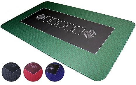 Pro Tapis de Poker 100x60cm Verts de Bullets Playing Cards