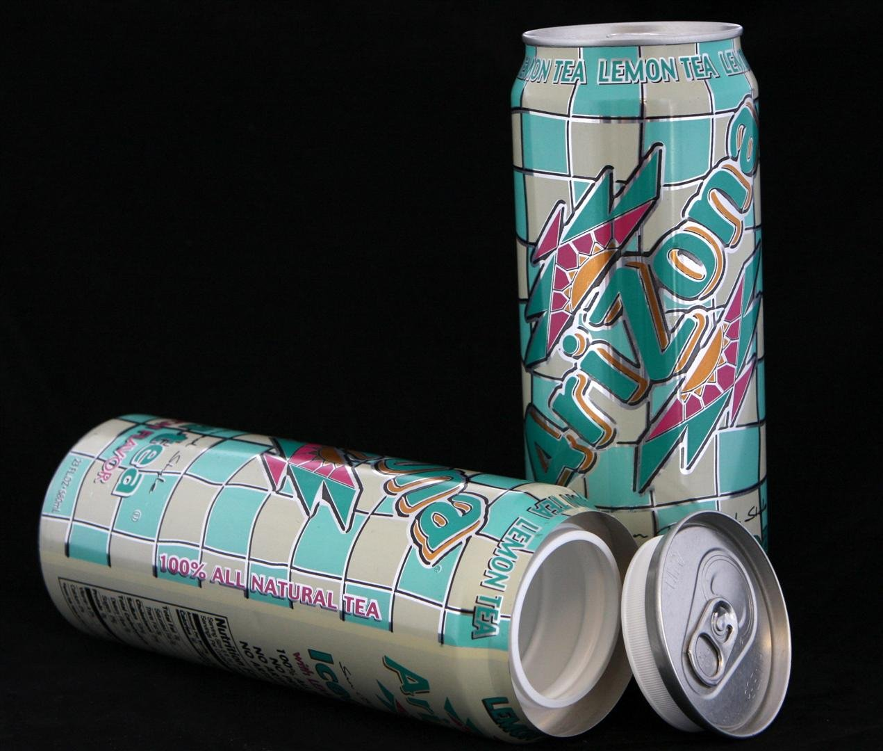 Товары для офиса Save$4u Arizona Lemon Tea Diversion Safe Can+Free Pack of 1 1/4 Rasta Wrap