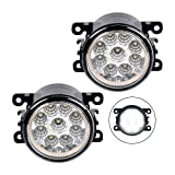 Front Left + Right Lower Bumper Fog Lights Set For Suzuki 2009-2013 Swift 2005 Swift+ - RPN: 990E0-65J36-000 (Color: White)