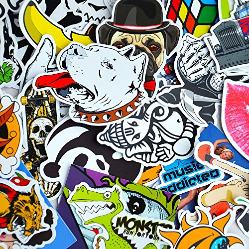 100 Car Styling JDM decal Stickers for Graffiti Car Covers Skateboard Snowboard Motorcycle Bike Laptop Sticker Bomb Accessories (Red Oakley Sticker compare prices)