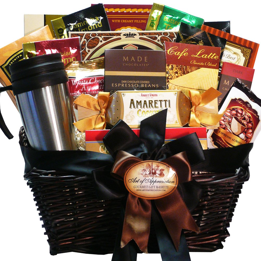 Coffee and biscotti gift baskets Christmas gift ideas for cooking lovers