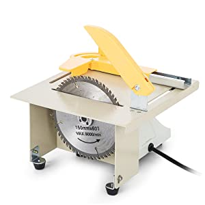 VEVOR Upgraded Jewelry Polishing Machine 350w Rock Polisher Bench Buffer T5 Home Bench Polisher Grinder Electricity Mini Table Saw Kit for Gem Metal Woodworking with Complete Accessories (220V)