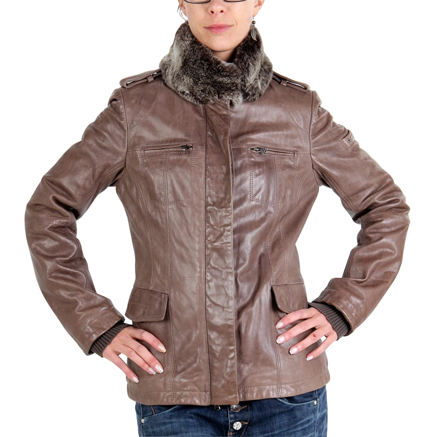 PEUTEREY Damen Winter Lederjacke Cindy Brown 2. Wahl kaufen