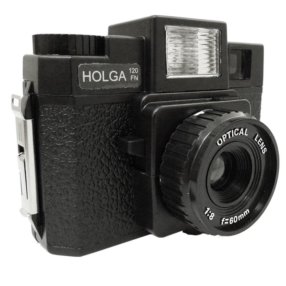 Holga 120 FN Medium Format Film Plastic Lens Toy Camera Flash 6x6 Black