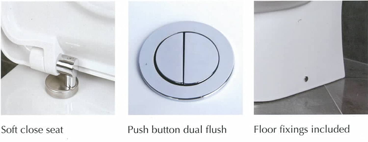 High Toilet Seat Height: Rak Tonique Compact Bathroom Close Coupled Raised Height