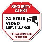 Video Surveillance Sign - Security Alert - No Trespassing Sign - ''Legend - Large 12 X 12 Octagon Rust Free 0.40 Aluminum Sign