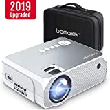 Full HD Mini Projector Portable, BOMAKER 3,600 Lux LED Projector with Carrying Bag, 1080P and 250'' Display Supported, Compatible with TV Stick, PS4, HDMI, VGA, TF, AV and USB (Color: Sliver, Tamaño: 22*17*9 cm)