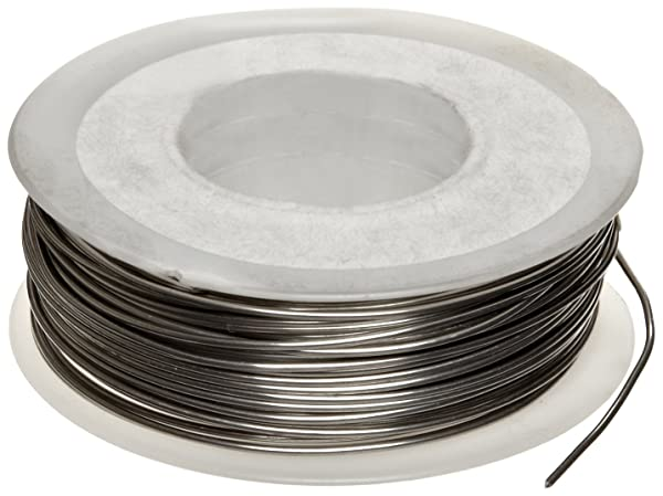 Nickel Chomium Resistance Wire, Bright, 18 AWG, 0.04 Diameter, 49.75' Length (Pack of 1)