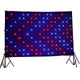 LED Vision Curtain P18 2x3M Remote control DMX512 for Mobile DJ Band night club stage backdrop