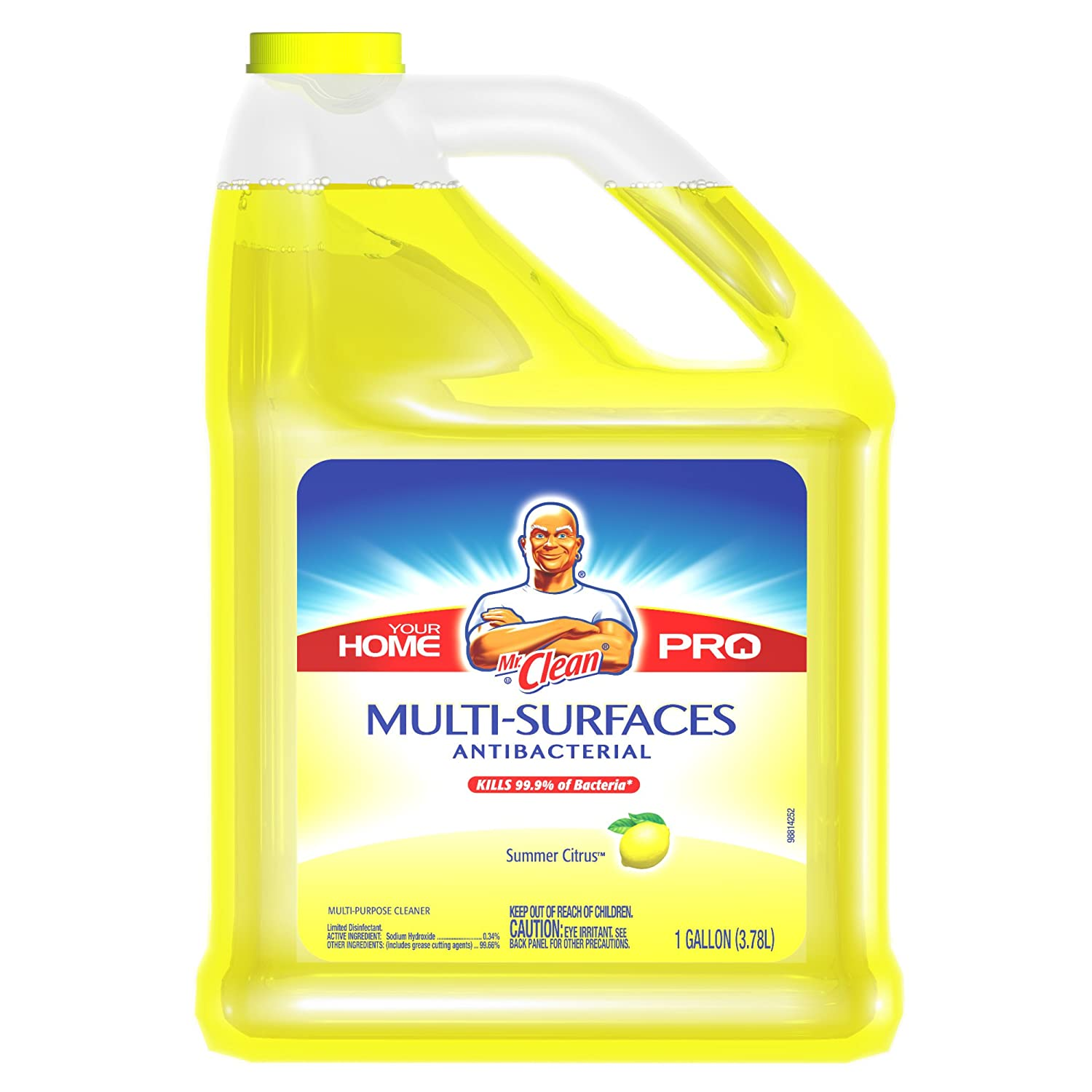 Mr. Clean Multi-Surfaces Summer Citrus Antibacterial Liquid Cleaner, 128 Fluid Ounce Bottle $7.90