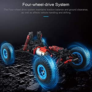 Mengen88 JJRC Q39 RC Car 1:12 Electric 4WD Remote Control Desert Truck RTR 35km/H Fast Speed High-Torque Servo 7.4V 1500mAh Rock Crawler Off Road Cars