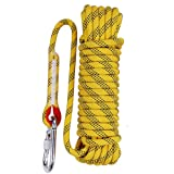 Aoneky 10 mm Static Outdoor Rock Climbing Rope, Fire Escape Safety Rappelling Rope (Yellow 1, 32) (Color: Yellow 1, Tamaño: 10 mm 32 ft)
