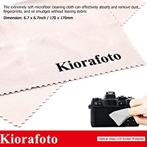 Kiorafoto 2 Pack Optical Tempered Glass LCD Screen Protector + Sub-screen PET Film Protector for Canon EOS Rebel T7i T6s T6i T5i 800D 760D 750D 700D Camera Screen Protector with Hot Shoe Dustproof Cap (Color: for Canon EOS 800D 760D 750D Rebel T7i T6s T6i, Tamaño: for Canon EOS 800D 760D 750D Rebel T7i T6s T6i)