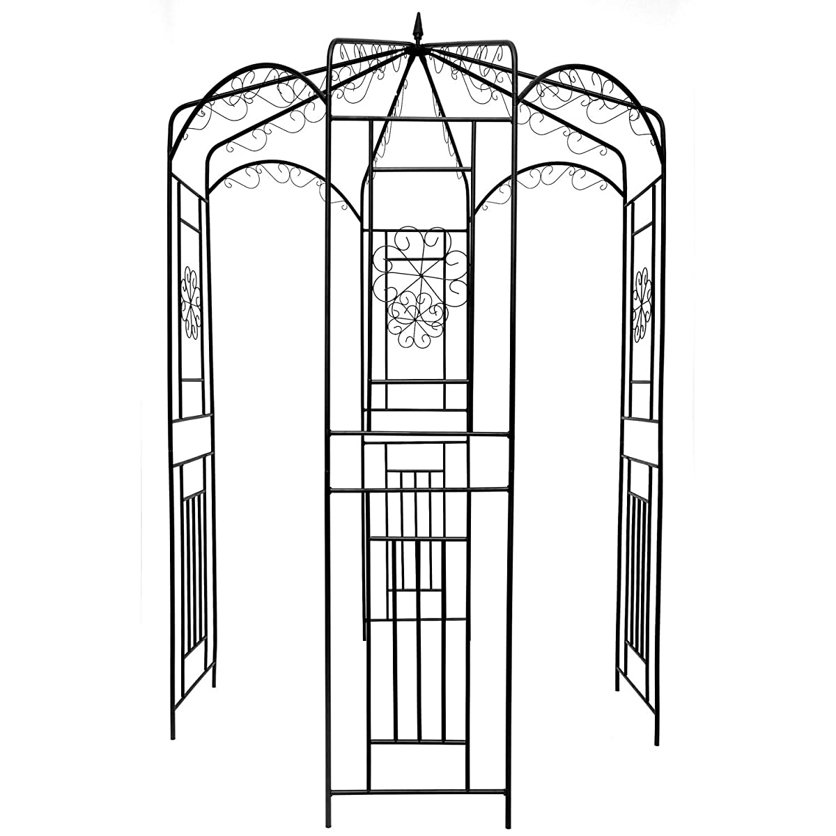 "1.Go Steel Garden Arch, 8 High x 52"" Wide, Garden Arbor for Various Climbing Plant, Outdoor Garden Lawn Backyard Gazebo"