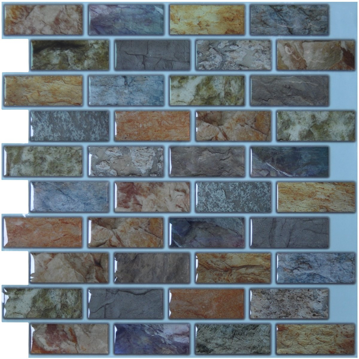 Art3d Peel Stick Bathroom Kitchen Backsplash Tiles 6 Piece A17014p6 Ebay