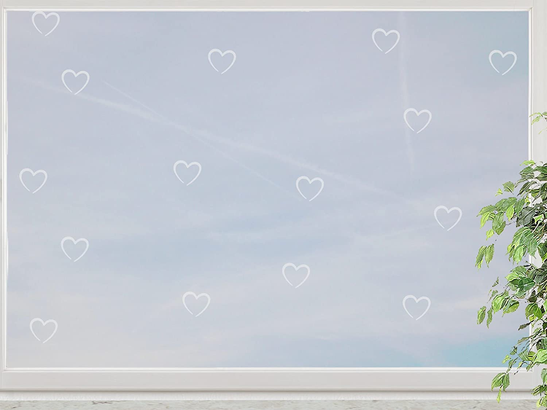 wandfabrik – Fenstersticker Herzchen 15 süße Herz (HZ115) – frosty – 798 – (Hg) online bestellen