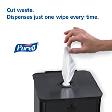 PURELL 9118-02 Sanitizing Wipes, 1200 Count Refill (Pack of 2)