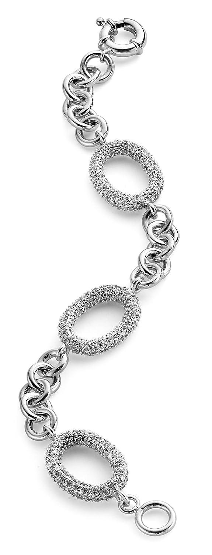 ORPHELIA armband 925/ooo Sterlingsilber 18CM KREISE ZIRKONIA als Geschenk