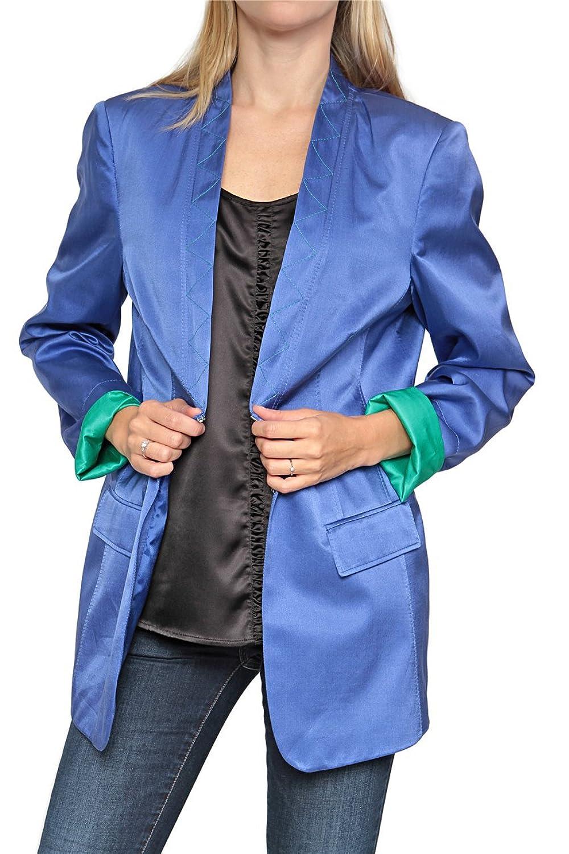 Basler Damen Blazer Seiden FLORIDA, Farbe: Blau günstig online kaufen