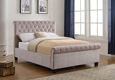 Flair Furnishings Lola Fabric Bed Mink Kingsize