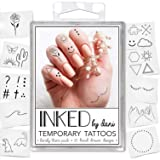 INKED by Dani Temporary Tattoo Designs – Barely There Pack. Realistic, Hand-Drawn Body Art