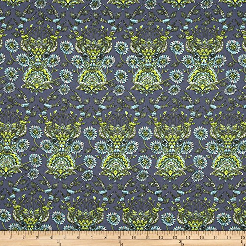 Tula Pink Moon Shine Deer Me Indigo Fabric