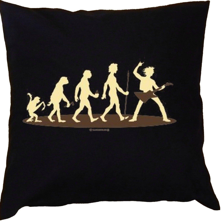 Kissen mit Innenkissen – Homo Stupidus: Musiker – mit 40 x 40 cm – in schwarz : ) günstig kaufen