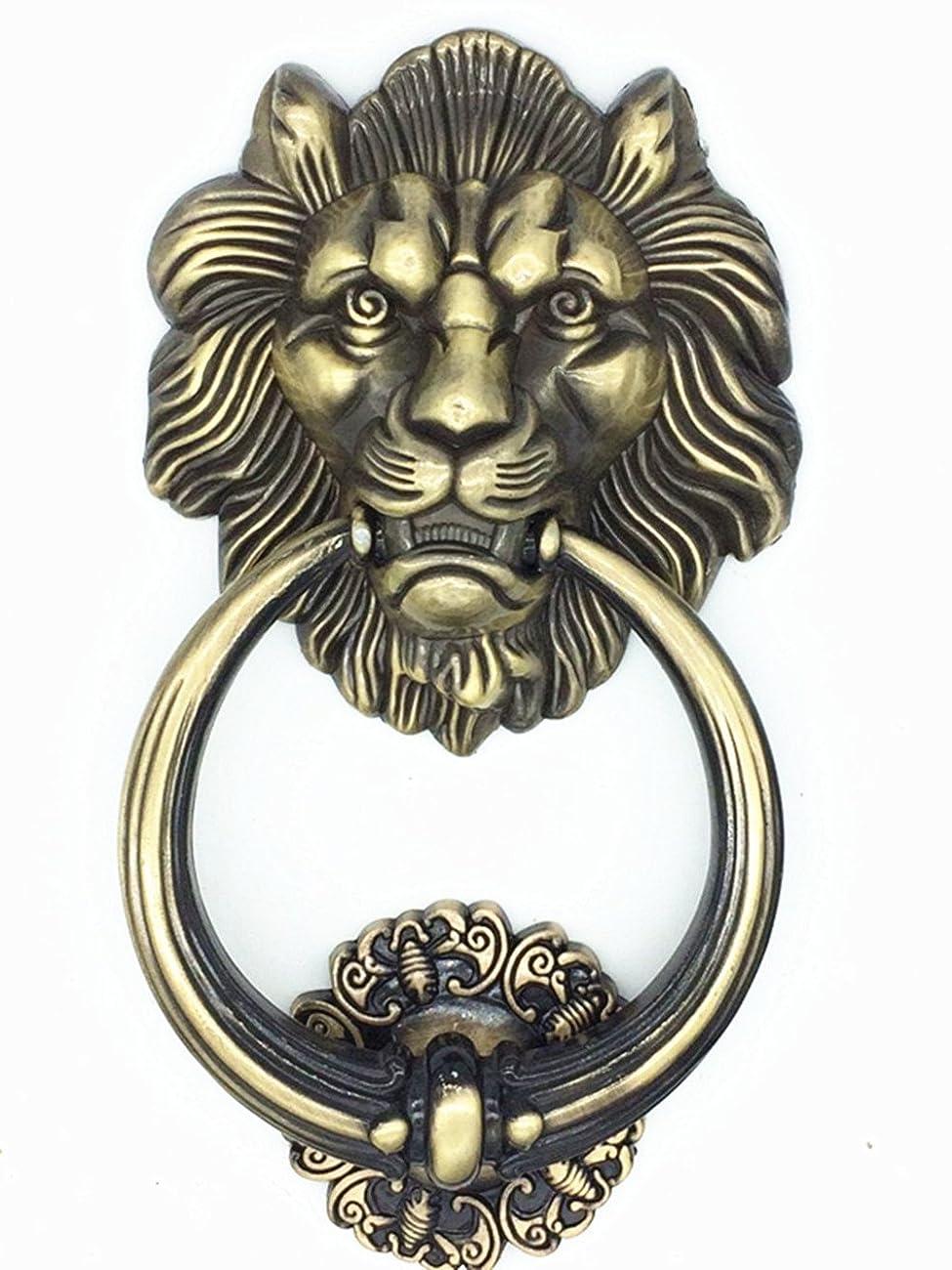 UniDecor Large Antique Lion Door Knocker Lion Head Door Handle 0