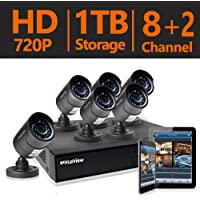 LaView 8-Channel 720P 1TB HDD Indoor/Outdoor Day Night Surveillance System