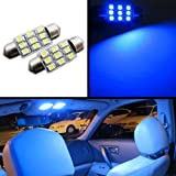 FLA 36mm D36 FESTOON 9-SMD LED Bulbs High Power 3528-SMD Chip License Interior Trim Accent Dome Map Bright (Blue)