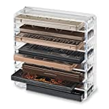 byAlegory Acrylic Medium Eyeshadow Palette Makeup Organizer W/ Removable Dividers Designed To Stand & Lay Flat | 8 Space Organization Container Storage - Fits Standard Size Palettes - Clear (Color: Clear, Tamaño: Medium)