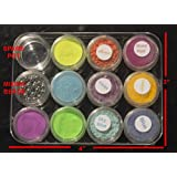 Photochromic-Pigment-Powder-nail-art-Kit-6-colors-Photo-3-colors-glow-in-dark (Color: Yellow, Red, Purple, Blue, Sky blue, Orange, Green)