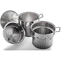 Culina 12 Qt. Multi Pot Cooker Heavy Gauge 18/10 Stainless Steel 4-Piece Set