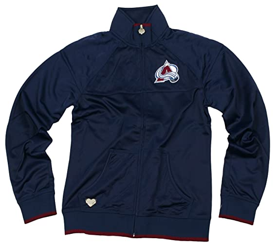 Colorado Avalanche NHL Womens Quilted Track Jacket Navy