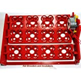 AUTOMATIC 48 Eggs Quail Turner Tray for Incubator with 110 Volt PCB motor NEW! (Color: Red, Tamaño: 48 Quail or 12 Chicken Duck Poultry Avian)