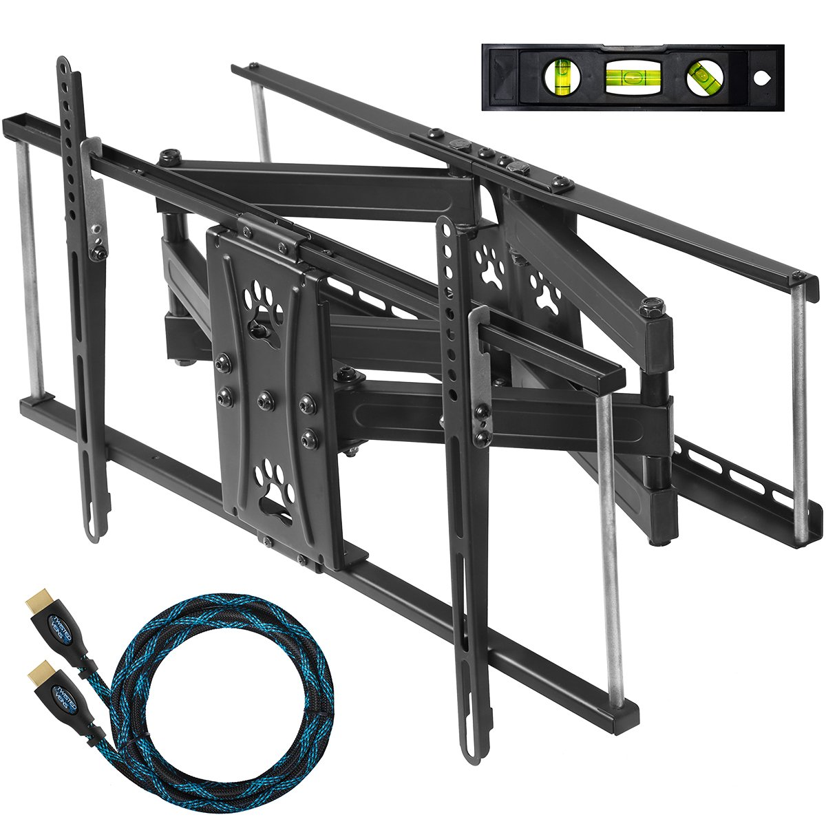 "Cheetah Mounts APDAM2B Articulating Dual Arm TV Wall Mount Bracket with Full Motion Tilt and Swivel for 32-65"" LCD, LED, Plasma .."