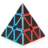 D-FantiX Pyramid Cube, Carbon Fiber Pyramid Speed Cube 3x3 Triangle Cube Puzzle