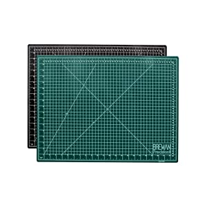 WA Portman Cutting Mat Craft Knife Precision Ruler Set I 18x24 inch Self Healing Mat I Hobby Knife I 10 Replacement Blades I 24 inch Premium Steel Ruler I for Crafts Model Kits Paper Plastic Fabric (Tamaño: 24 x 18)