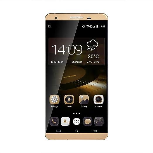 Cubot X15 Téléphone Portable Smart de Quad Core Android 5.1 IPS FHD 4G FDD-LTE 2GB 16GB MTK6735 8MP 16MP Doubles Appareils Caméras (or)