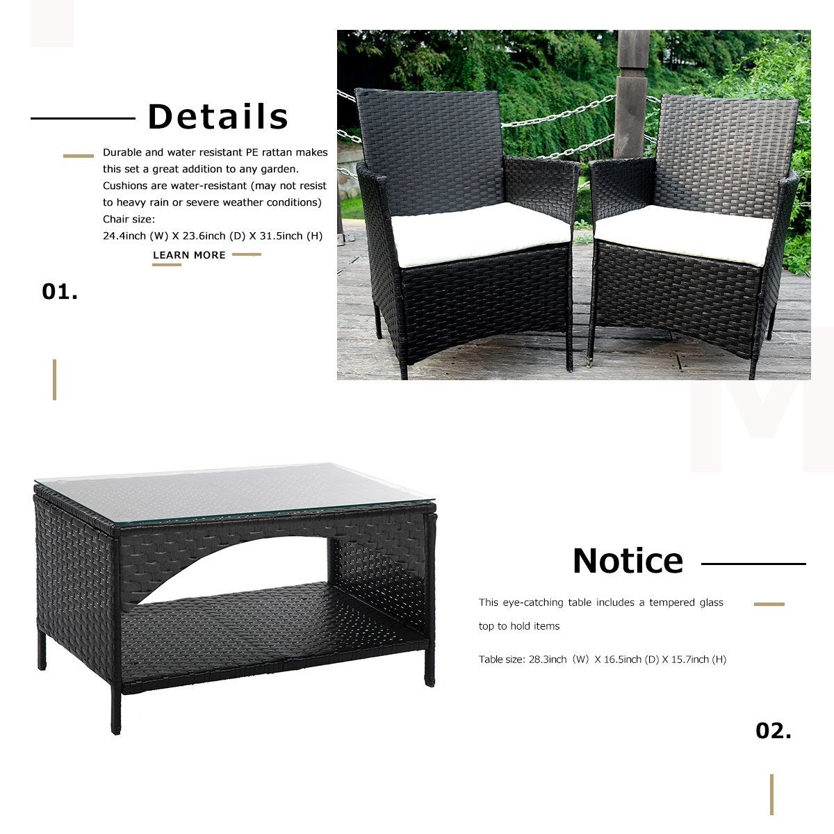 Amazing Merax 4 Piece Outdoor Pe Rattan Wicker Sofa And Chairs Set Home Interior And Landscaping Ologienasavecom